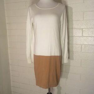 MICHAEL Michael Kors Zipper Sweater White Dress L